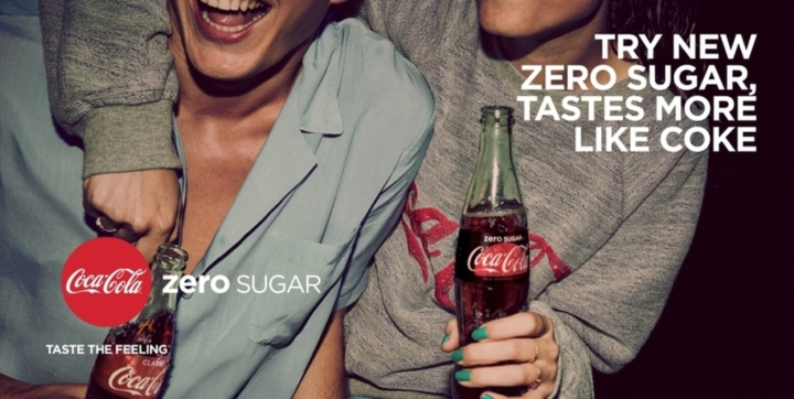 Verbesserter Geschmack, null Zucker:  Coca-Cola Zero Sugar