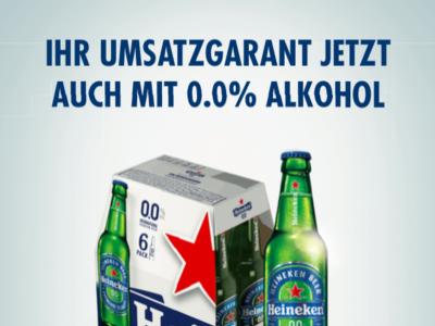 Das erste alkoholfreie Heineken® 0.0
