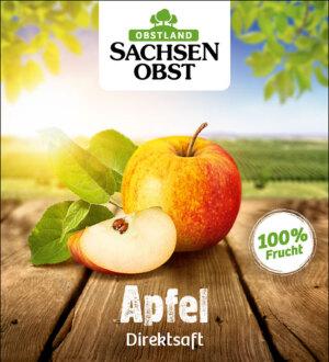 Sachsenobst Apfelsaft - Direktsaft