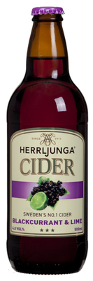 Herrljunga Cider Blackcurrant & Lime