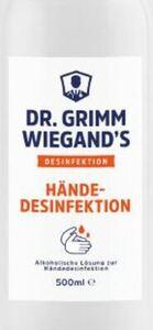Händedesinfektionsmittel Dr. Grimm Wiegand