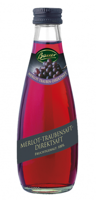 Bauer Merlot Trauben Direktsaft