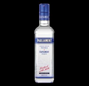 Parliament Vodka mit Milch gereinigt